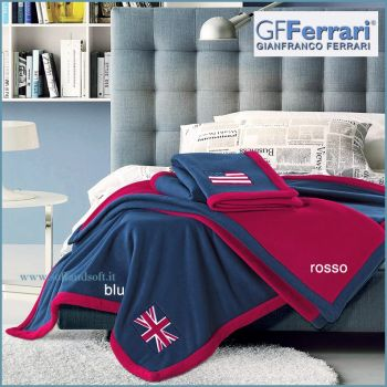 NAVY embroidered pile rug GF FERRARI cm 160x190