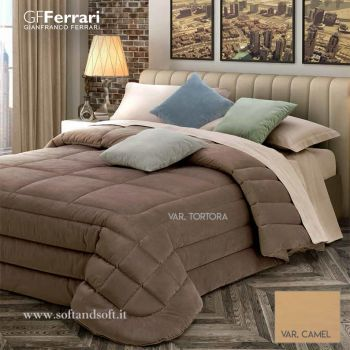 LILLI Velvet Quilt for Double Bed by GFFERRARI