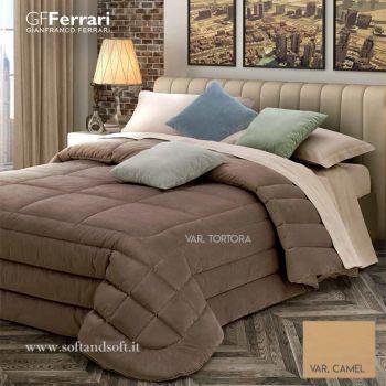 LILLI Velvet Quilt for Double Bed by GFFERRARI