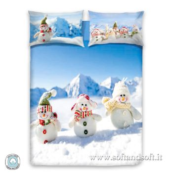SNOWMAN Duvet Cover Parure for Single Bed DIGITAL PRINT