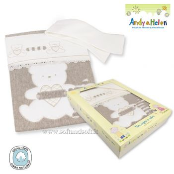 R01 ORSETTO PANNA Winter Composé for Cots (Blanket,Sheet,Pillowcase)
