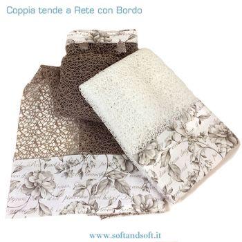 RETE Coppia Tende cm 60x150 con Balza