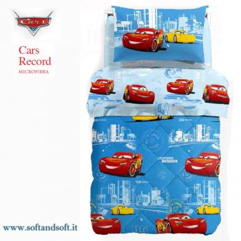 CARS RECORD Duvet for single beds Disney Caleffi Microfiber