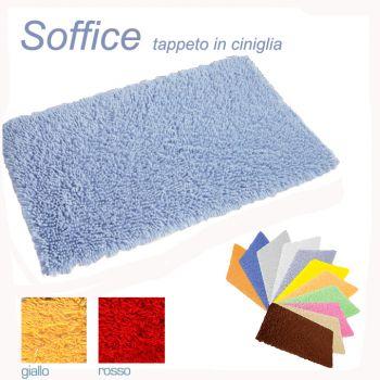 SOFFICE Carpet for Bathroom cm 55x90 100% Cotton