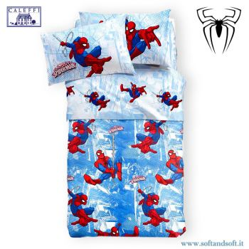 SPIDER-MAN GRAPHIC Quilted Bedcover for three-quarter beds Disney Caleffi