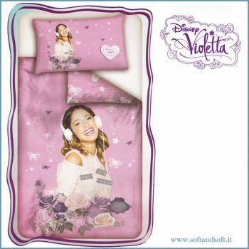 Copripiumino letto singolo Disney Violetta