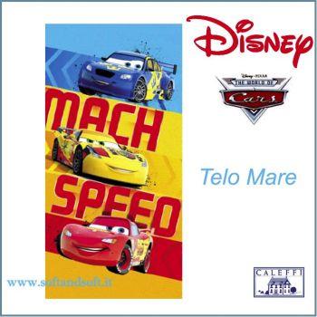 CARS MATCH Disney Caleffi Telo mare cm 75x150