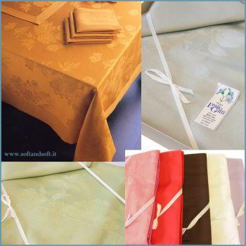 ASSISI Table cloth 8 cm 160x220 LINEN BLEND Emilio Gatti LARGE