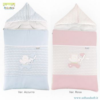R32 STUFFED STROLLER COVER for newborns in pure cotton