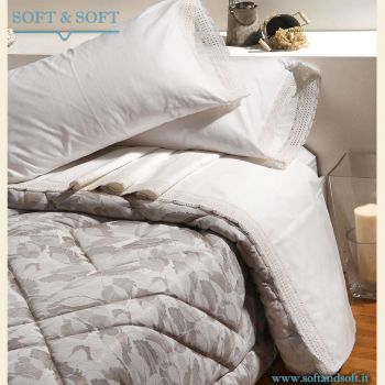 PIZZO COTONE Sheet Set for double bed lace border
