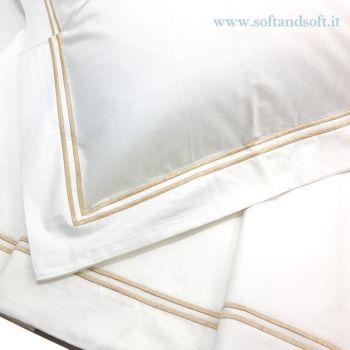 RANDOM Parure lenzuola letto singolo Bianche Prezioso Percalle 80 fili