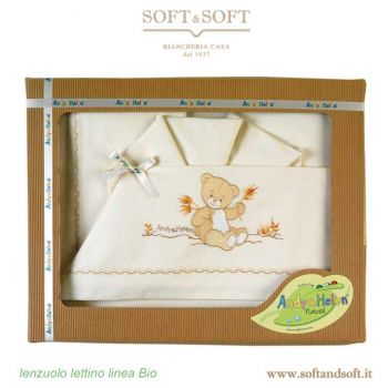 BIO Teddy Sheet Set  for cots Andy & Helen Baby 495303