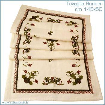 FAENTINA ROMAGNOLA tablecloth runner cm 45x150