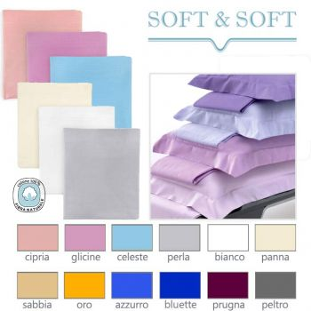 SOFT&SOFT Pure Cotton Sheet Set for Double Bed Plain Colour