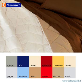 INDICOLOR Quilted Bedcover for three quarter beds Biancaluna