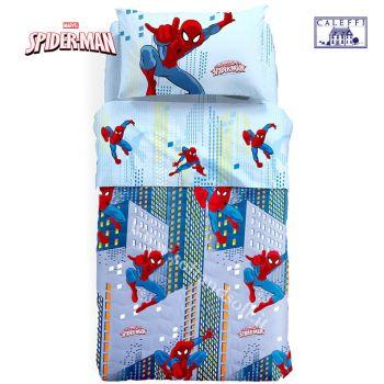 SPIEDERMAN MAN SKY quilted bedcover for three quarter beds Disney Caleffi Microfiber