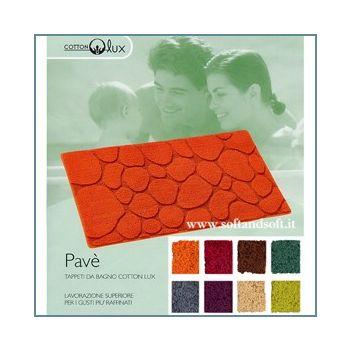 PAVE' Tappeto bagno cm 60x110 puro cotone