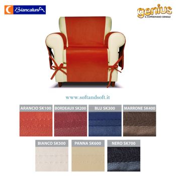 Genius SKIN Armchair Cover Biancaluna Eco-friendly Leather