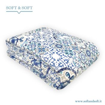 DECÒ127 Spring Quilted Bedcover for Double Bed Pure Cotton Fabric