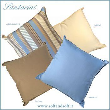 SANTORINI cuscino per esterno-interno teflonato cm 50x50 Antimacchia b