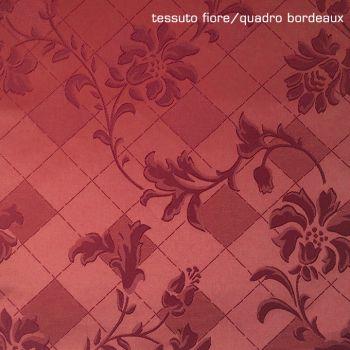 TOVAGLIA Rettangolare e QUADRATa su Misura Bordeaux fiore/quadro