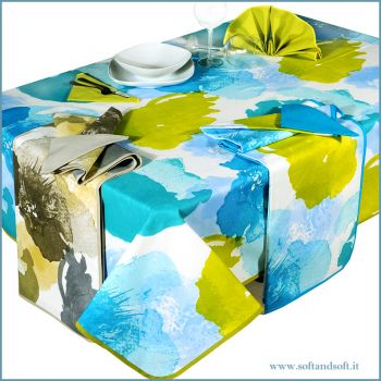 MALESIA Rectangular Tablecloat with napkins cm 140x180