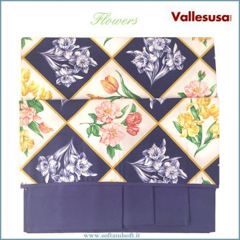 FLOWERS Table cloth with 8 napkin cm 150x220 524938