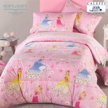 PRINCESS FIORI Quilt for Three-quarter Beds Disney CALEFFI