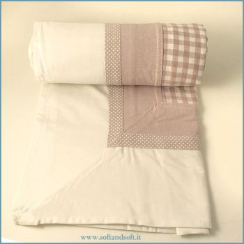 MAGIC Table cloth for 12 cm 140x240 checked pink