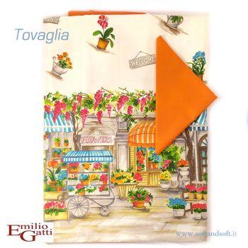 LOIRA Provenza Tovaglia per 12 con tovaglioli Gatti Emilio cm 150x250