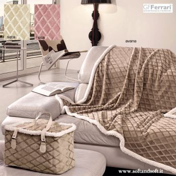 PLAID BAG Microfiber blanket 130X160 cm with coordinated bagGFFerrari