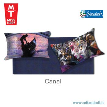 Miss Terry Canal Coppia FEDERE Cuscino sfuse cm 52x82