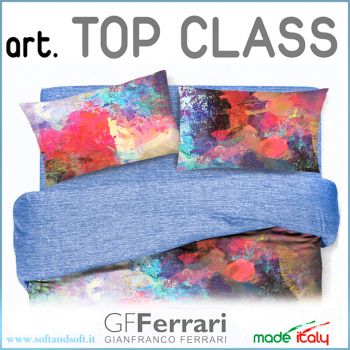 TOP CLASS dis. 17 Coppia federe Percalle COTONE GFFERRARI