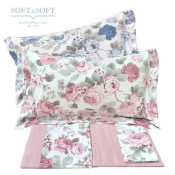 EMILY Sheet set double bed in pure cotton floral pattern