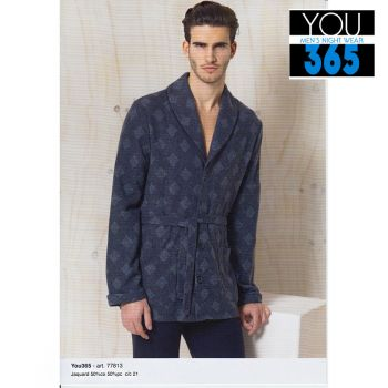 YOU 77813 Men's Housecoat long sleeves for winter