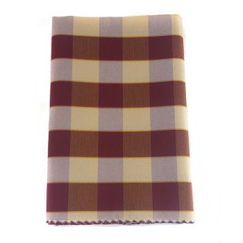 BORA Table cloth for 6 cm 140x180 check pattern no stain TEFLON bordeaux