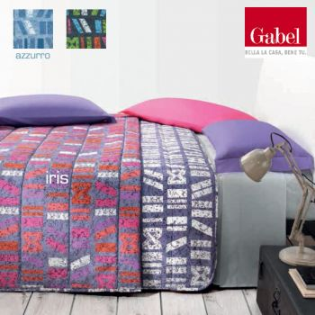 LEVANZO Spring quilted bedcover for single bed Vallesusa