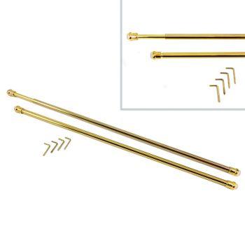 BACCHETTE GUIDE PER TENDE in Metallo Oro CM 36 - 60 Allungabili universali