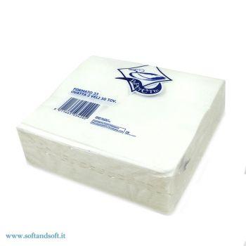 TOVAGLIOLI DI CARTA 33X33 2 VELI (Pacchi da 50 Tovaglioli) Bianco