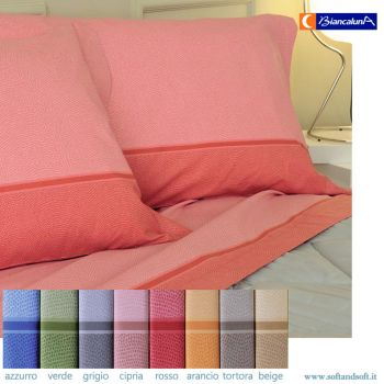 TRAMONTI DERN Fabric sheet set for single bed BIANCALUNA