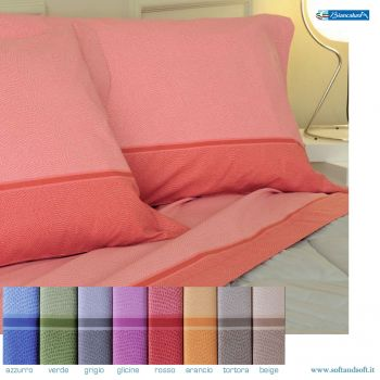 TRAMONTI DERN Fabric sheet set for three-quarter bed Biancaluna