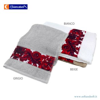 MISS TERRY FLEUR Set 1 Face Towel + 1 Guest Towel BIANCALUNA