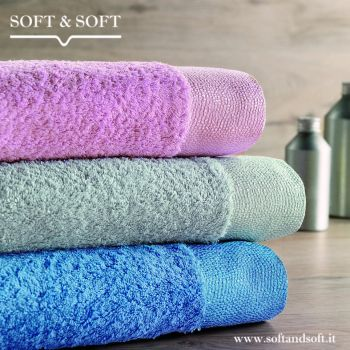 CHROMO solid-coloured Couple Handtowels by GABEL