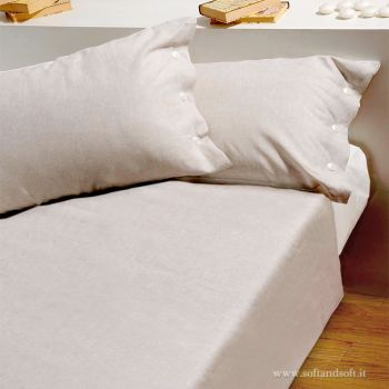 LINO E COTONE Duvet Cover Set for Double Bed made in cotton and linen