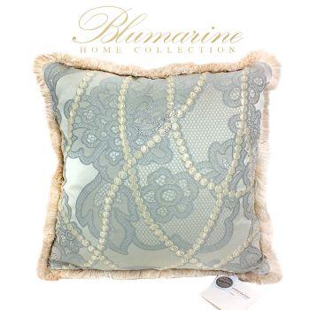 BLUMARINE DIMORA nr. 2 Cushion cm 42X42 - Salvia
