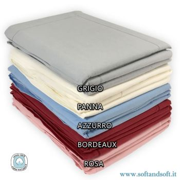 COLOR Flannel Sheet Set for Double Bed Solid Color