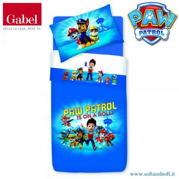 PAW PATROL ROLL sheet parure for single bed by Gabel
