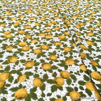 LIMONI tessuto arredo cm 140 TELA FINISSIMA limone giallo 681670