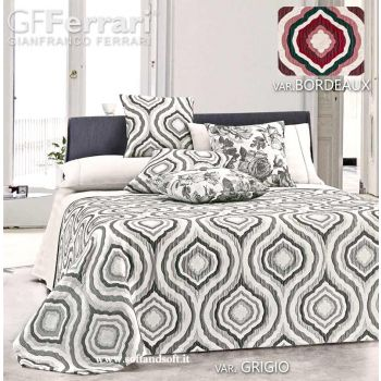 FEBE Yarn-Dyed Chenillie Jacquard Bedspread for Double Bed