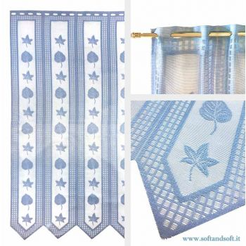 Edera Window blind Tent by meter ready to hang height 45 cm light blue